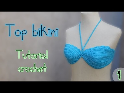 Como tejer un top bikini parte superior (1.2)