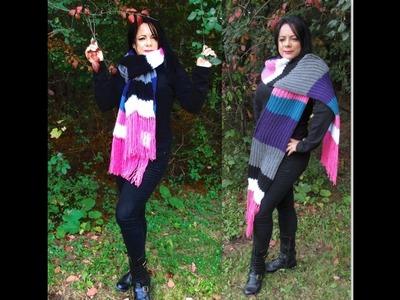 Como tejer una bufanda en telar con sobrantes de lana