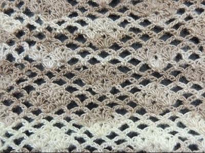 Crochet: Punto Enrejado # 7
