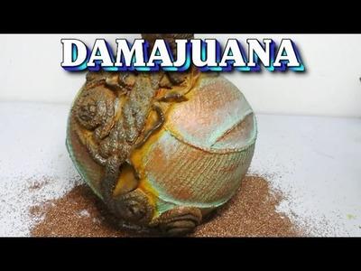 Damajuana técnica en metal - DAMAJUANA, TECHNICAL IN METAL