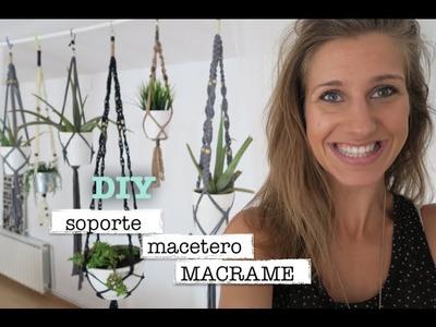 DIY | Como hacer macrame porta macetas | Plant hanger