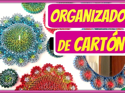 DIY ORGANIZADOR de cartón. Cardboard organizer.