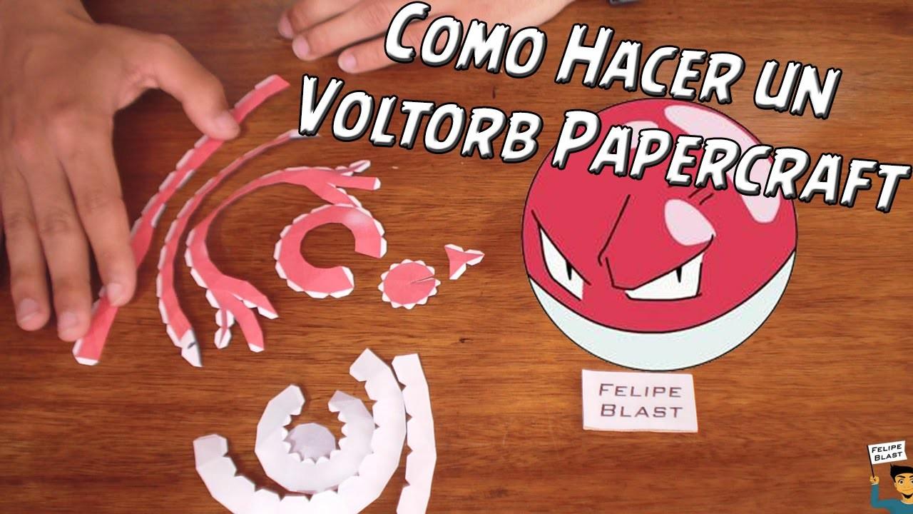 [E] Como hacer un Voltorb de Papel (Voltorb Papercraft #5) por FelipeBlast