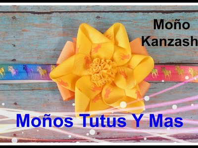 FACIL MOñO KANZASHI CON LISTON Paso a Paso EASY KANZASHI BOW Tutorial DIY How To PAP
