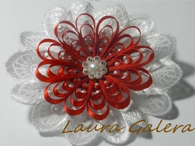Flor con perlas Tutorial