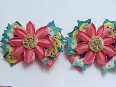 Flores elegantes y hermosas para centro de lazos, Flores fáciles listón