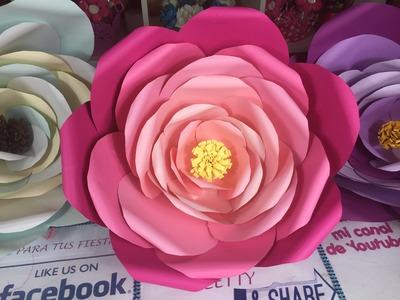 Flores Gigantes de papel