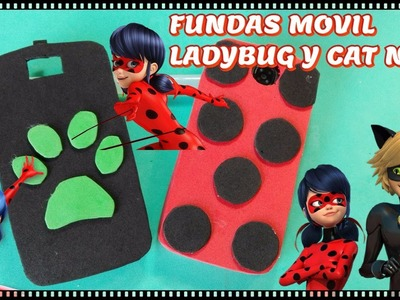 Funda movil Miraculous Ladybug y Cat Noir TUTORIAL- Lolicrafts