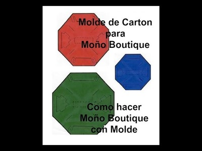Hacer y Usar MOLDE para MOñO BOUTIQUE Paso a Paso MAKE and USE A BOUTIQUE BOW TEMPLATE