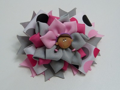Lazos faciles de liston, Flores elegantes en cinta gros,#531,How To Make A Hair Bow