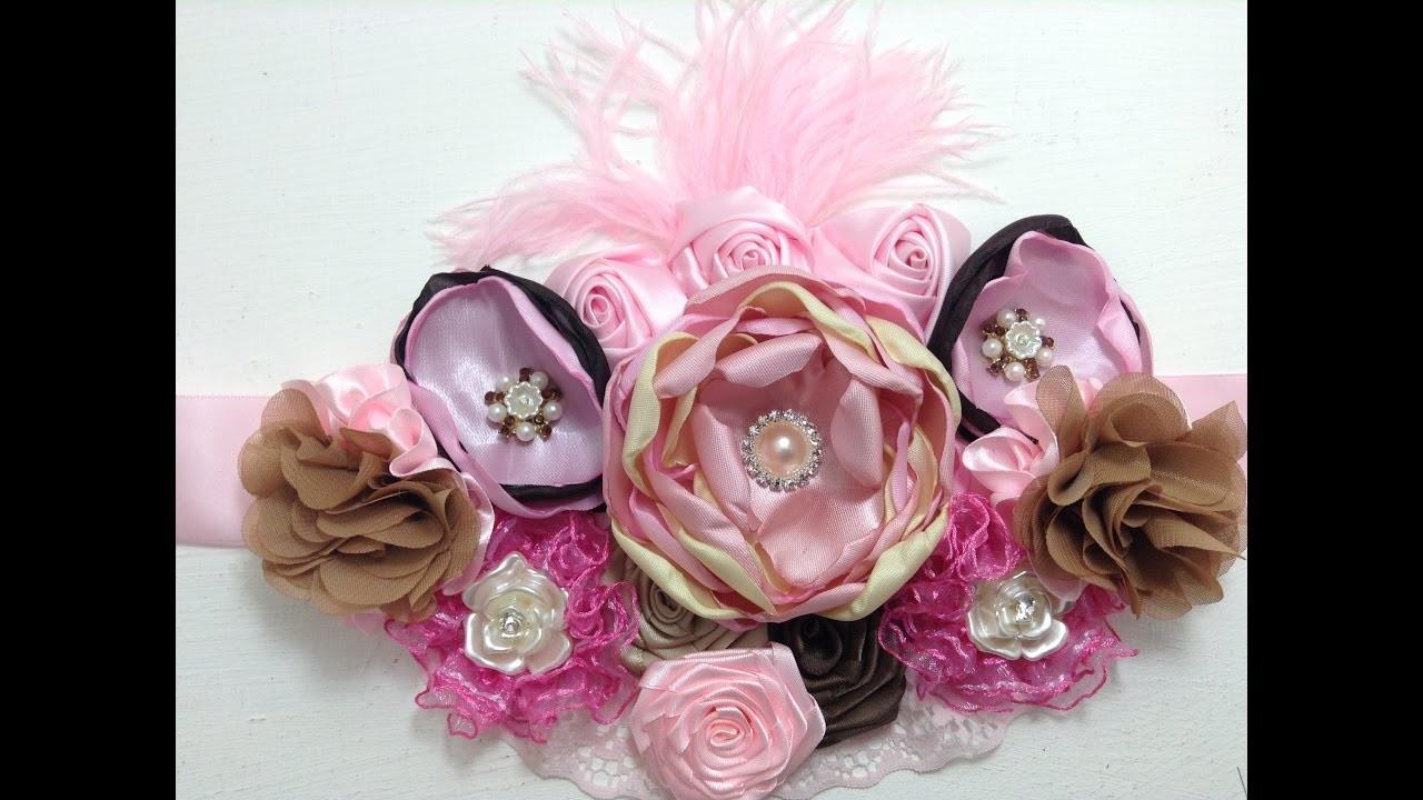 Maternity sash   rosa-cafe VIDEO No. 367