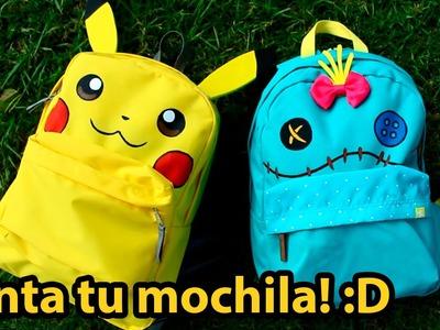 Mochila de PIKACHU y TRAPOS! (Lilo & Stitch) | Diana Díaz