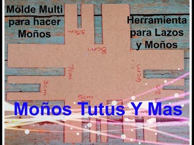MOLDE DE CARTON EN CENTIMETROS Paso a Paso CARDBOARD HAIR BOW TEMPLATE Tutorial DIY Step by Step
