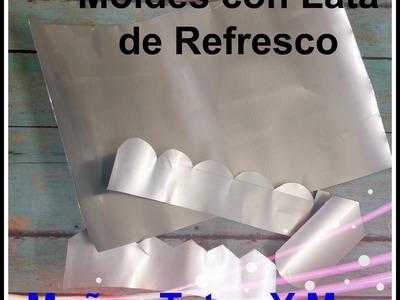 MOLDES PARA FLORES CON LATA DE SODA Paso a Paso FLOWER TEMPLATE w. SODA CAN