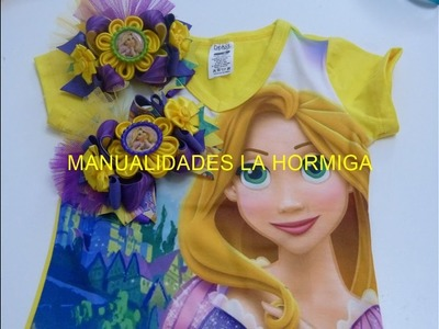 Moño de liston personaje Rapunzel , ideas set para vender, video 547, Elegant Boutique Hair Bow