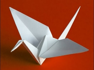 Origami grulla, como hacer grulla de papel paso a paso
