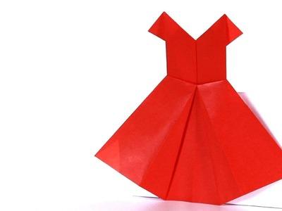 Origami vestido - Cómo hacer un vestido de papel de Origami