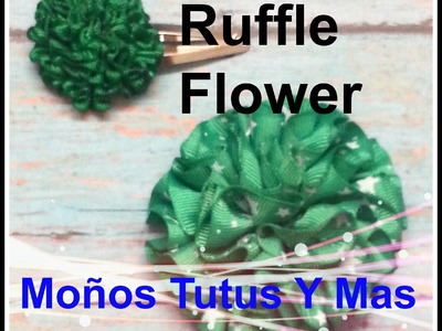 PAP Como Hacer FLOR DE LISTON FRUNCIDO Paso A Paso RUFFLED FLOWER TUTORIAL How To DIY