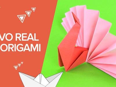 Pavo real de papel | Origami para niños