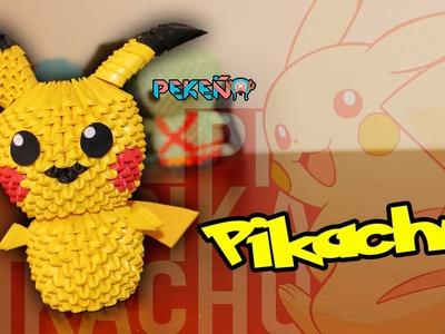 Pikachu 3D Origami | Pekeño ♥