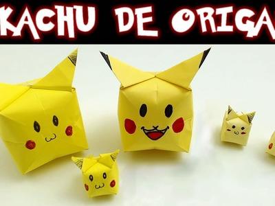 Pikachu de Origami, cómo se hace