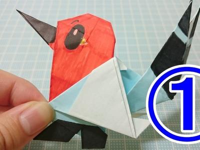 Pokemon Origami Paso a Paso! Fletchling (cara)