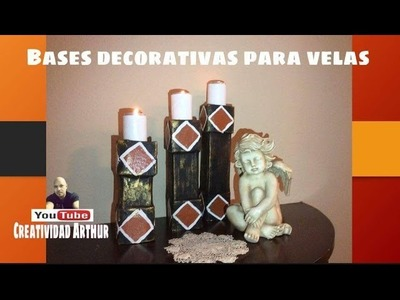 Porta  #velas.decorativas ,DECORATIVE CANDLE HOLDER