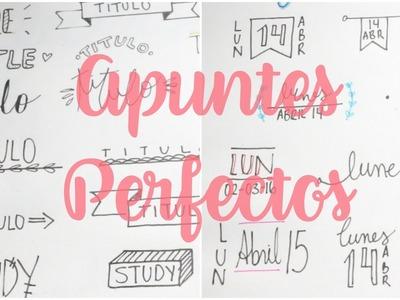 APUNTES PERFECTOS: titulos bonitos ❤ decora tu cuaderno ❤