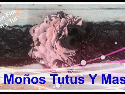 BANDITA FLOR CHIFON Y TUL Paso a Paso CHIFFON and TULLE FLOWER HEADBAND Tutorial DIY How To PAP