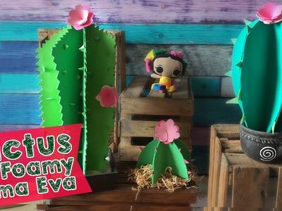 Cactus con Faomy o Cartulina  (Goma Eva) :: Chuladas Creativas