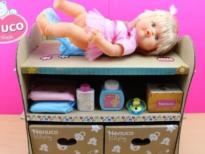 Cambiador de Bebé Nenuco | Juguetes de Nenuco en español | Cambiar pañal a la muñeca bebé