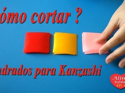 Cómo cortar cuadrados para Kanzashi. Diferentes variantes