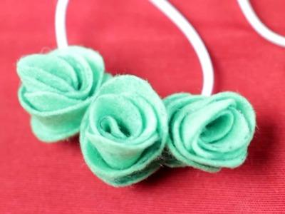 Cómo hacer pulseras con flores de fieltro| facilisimo.com
