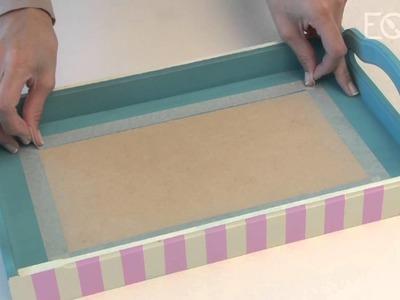 Como realizar decoupage con servilletas y aplicación de vidrio liquido? Eq Arte