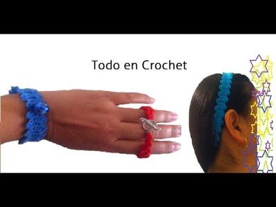 Cordón punto fantasía (tiara, vincha, gargantilla, pulsera, diadema). Point lace fantasy (headband)