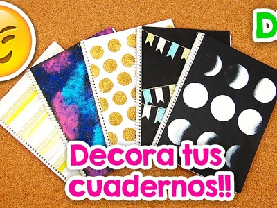 DIY | 5 Formas para Forrar y decorar tus Cuadernos!! + Blooper | FÁCIL | PumitaNegraArt