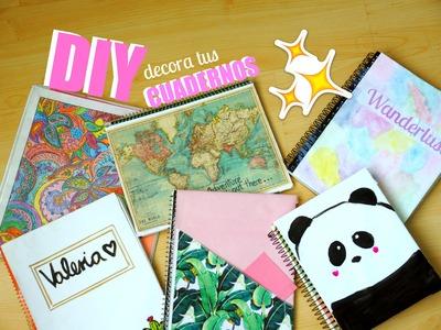 DIY - 6 ideas fáciles para decorar tus cuadernos! ♡