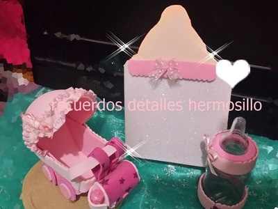 DIY COMO HACER INVITACION BABY SHOWER BIBERON