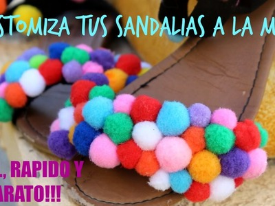 DIY Sandalias de POMPONES!!