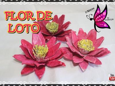 FLOR DE LOTO CON CARTON DE HUEVO