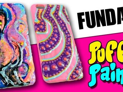 FUNDAS para celulares PUFFY PAINT * Fundas caseras DIY