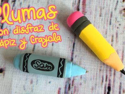 Lapiz y Crayola de Foamy Moldeable ::