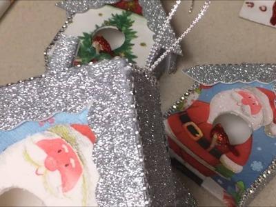 Manualidades Navideña de Casita de decoracion para el Arbol de Navidad