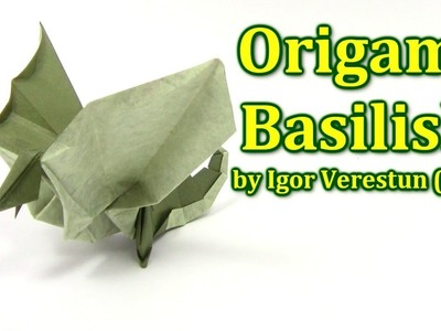 Origami Dragon Basilisk by Igor Verestun  - Yakomoga Origami tutorial