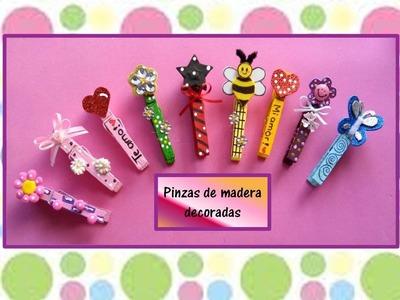 ♥PINZAS DE MADERA DECORADAS♥- ♥♥CREACIONES mágicas♥♥