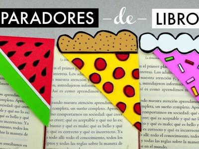 Separadores de Libros (Sandía, Pizza y Pastel) │Espacio Creativo