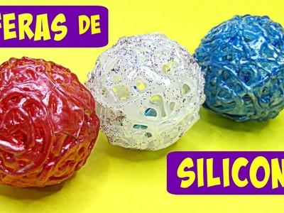 Divertidas esferas o pelotas de silicona caliente.