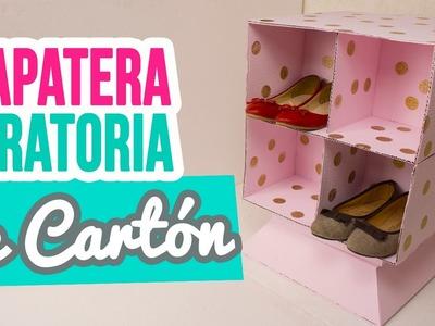 ¡Haz tu propia Zapatera Giratoria de Cartón! Mueble organizador | Muebles de Cartón | Catwalk