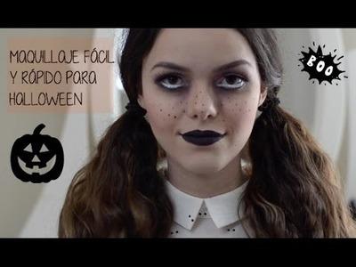 Maquillaje fácil y rápido para Halloween.