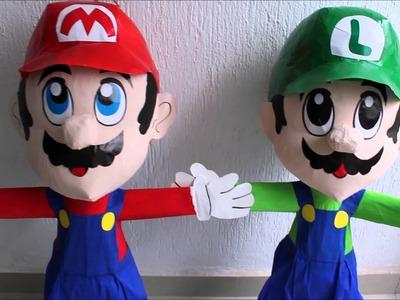 Piñatas de Luigi y Mario bros!!  NO es DIY